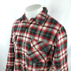 Pendleton Mens Button Front Shirt Sz Medium Wool